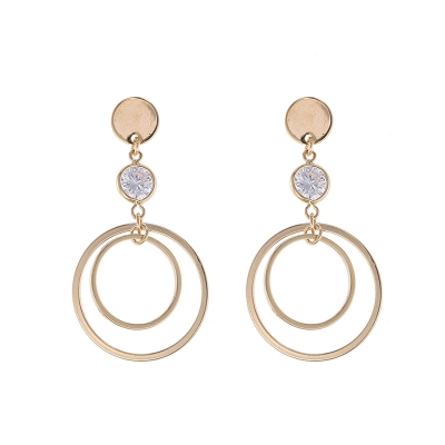Earrings Bling and Circles