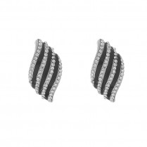 Earclip Striped Sparkle