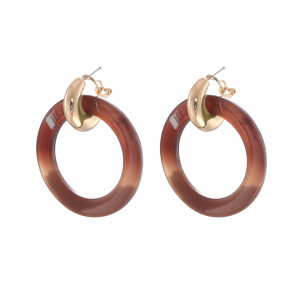Earrings Statement Chic Circles