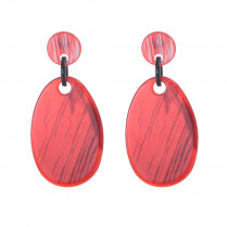 Ohrringe Statement One Color Oval