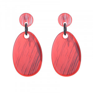 Earrings Statement One Color Oval