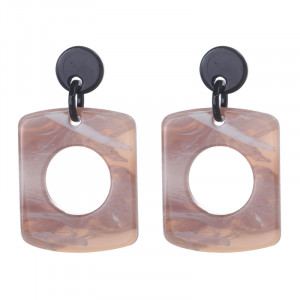 Earrings Statement Square Shape