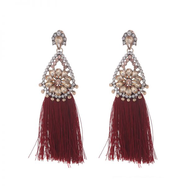 Earrings glam tassel
