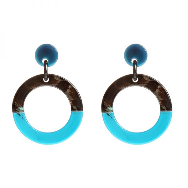Oorbellen Statement Circles Double Color