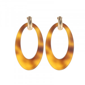 Oorbellen Statement Long Ovals