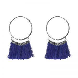 Earrings Tassel Circle