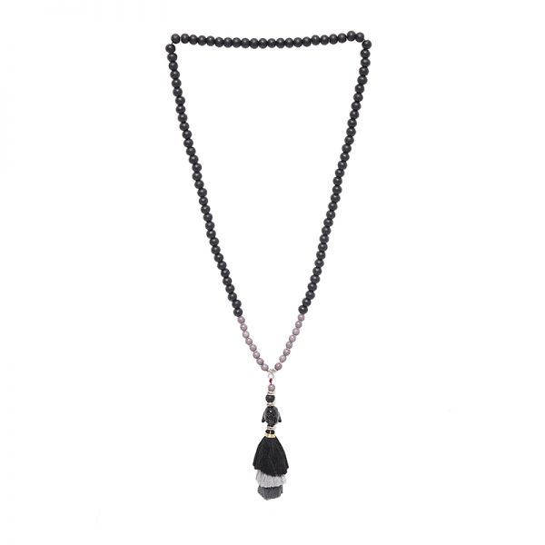 Collier tassel buddha head