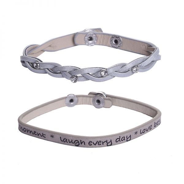 Bracelet Duo - Laugh every day-