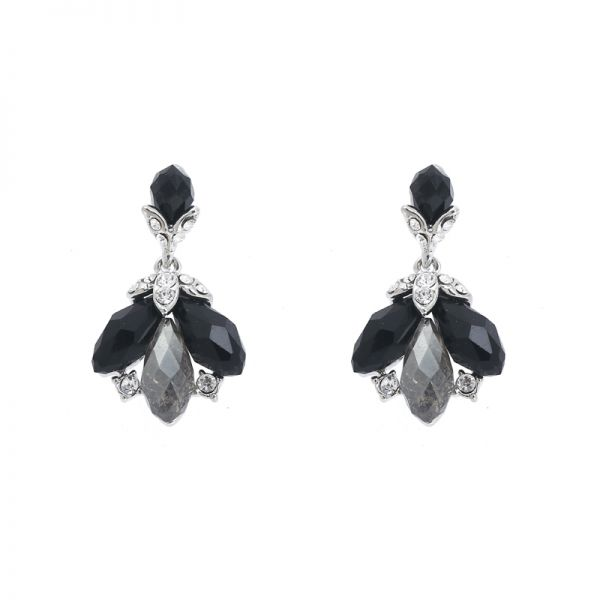 Earrings Sparkle Leaf