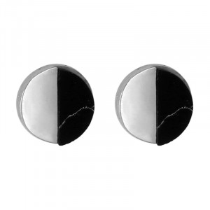 Earrings Marble Circle