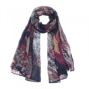 Scarf Paisley Leaves