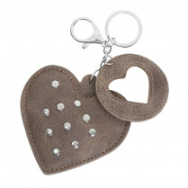 Keychain Hearts with studs