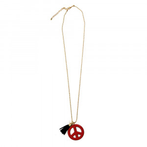 Necklace peace tassel