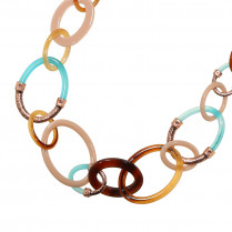 Necklace Statement Circles Long