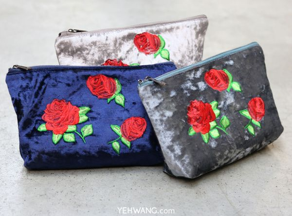 Make-up Bag Velvet Rose