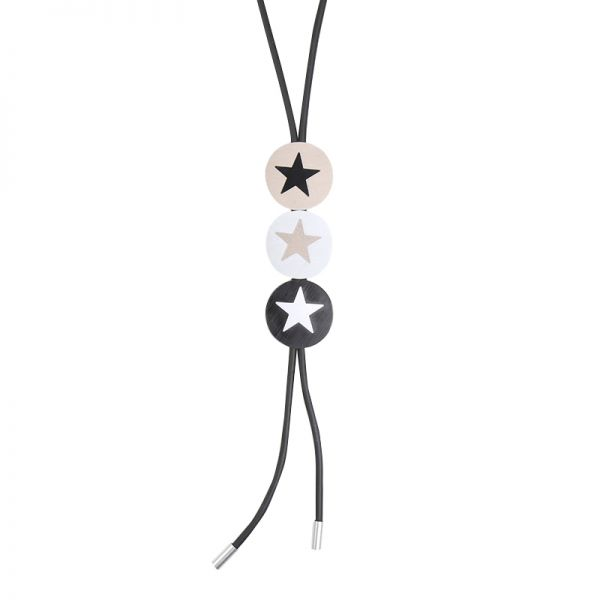 Necklace Artistic Three Circles & Stars
