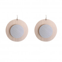 Earrings Artistic Double Circles
