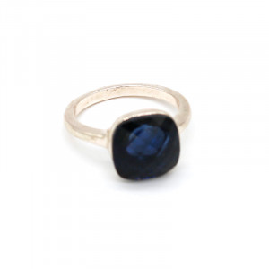 Ring Square -blue- size 17-