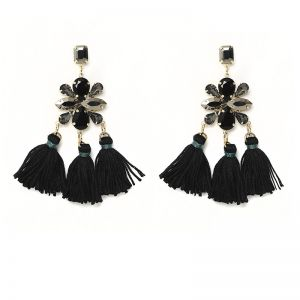 Earrings wow effect black