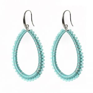 Earrings casa de chi oval blue