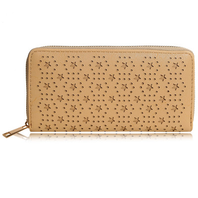 Wallet small stars - light brown
