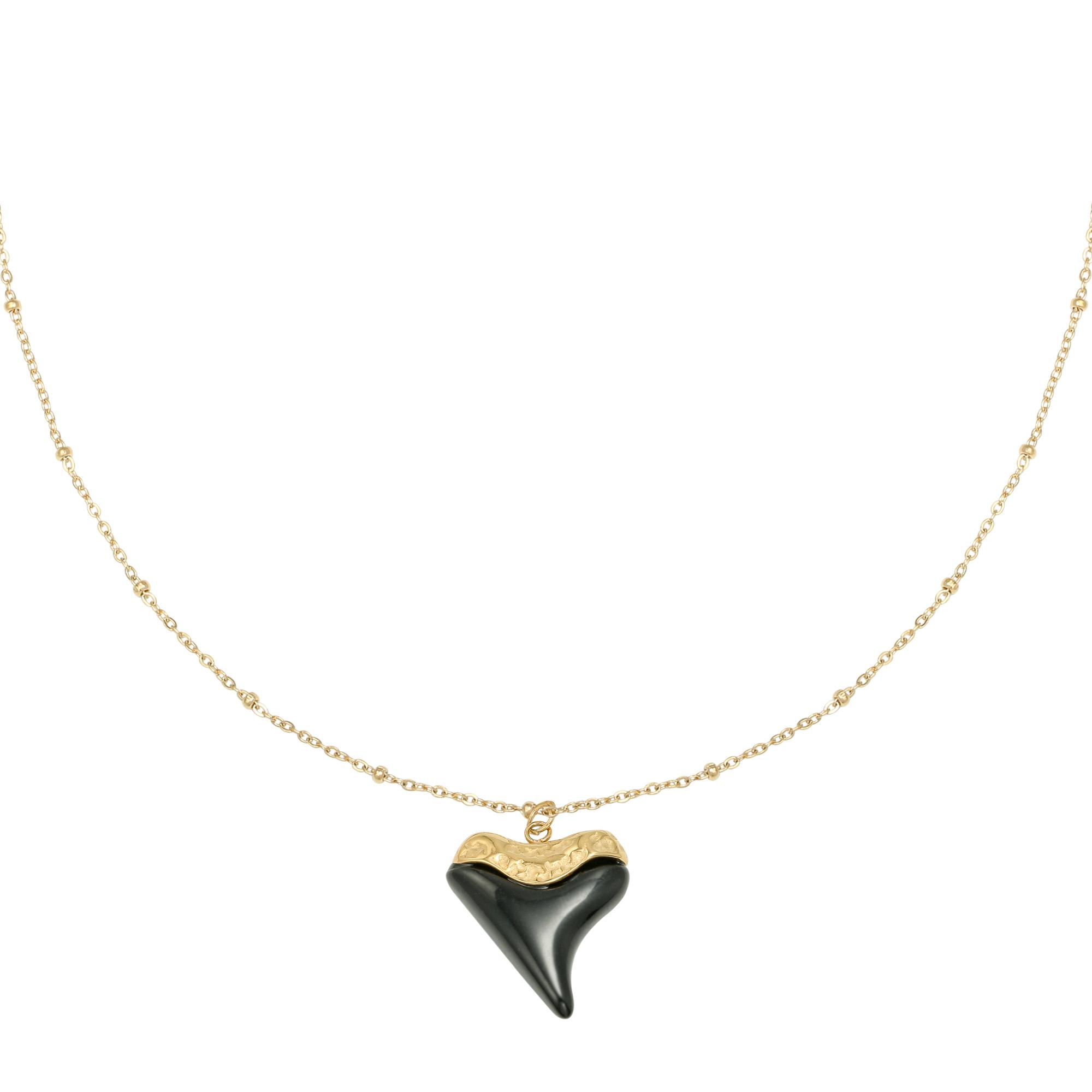Collar Black Heart