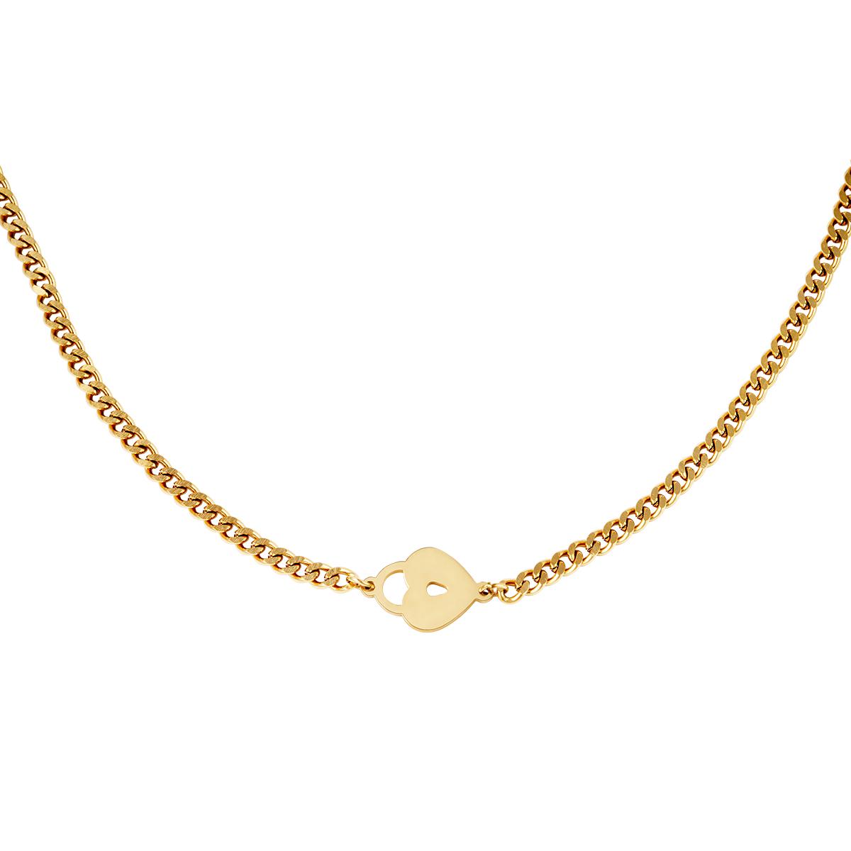 Halskette locked heart