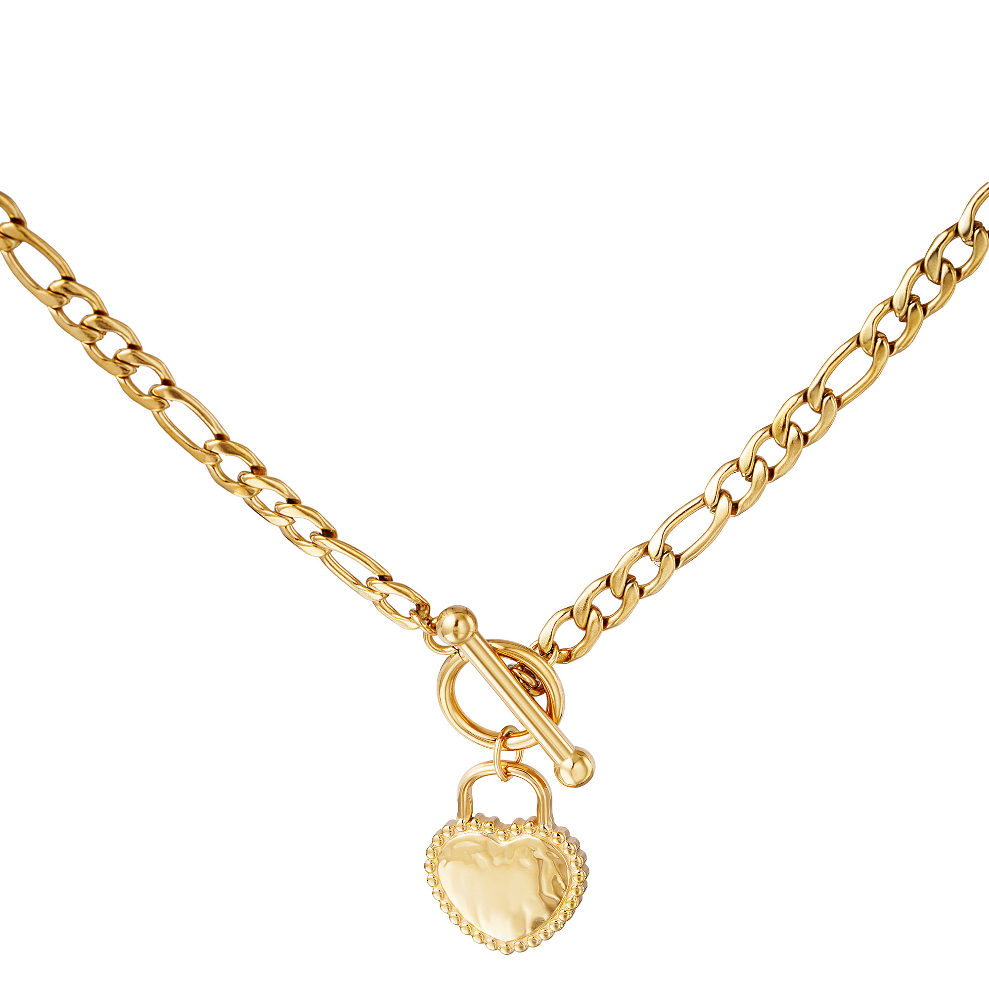 Halskette heart on lock