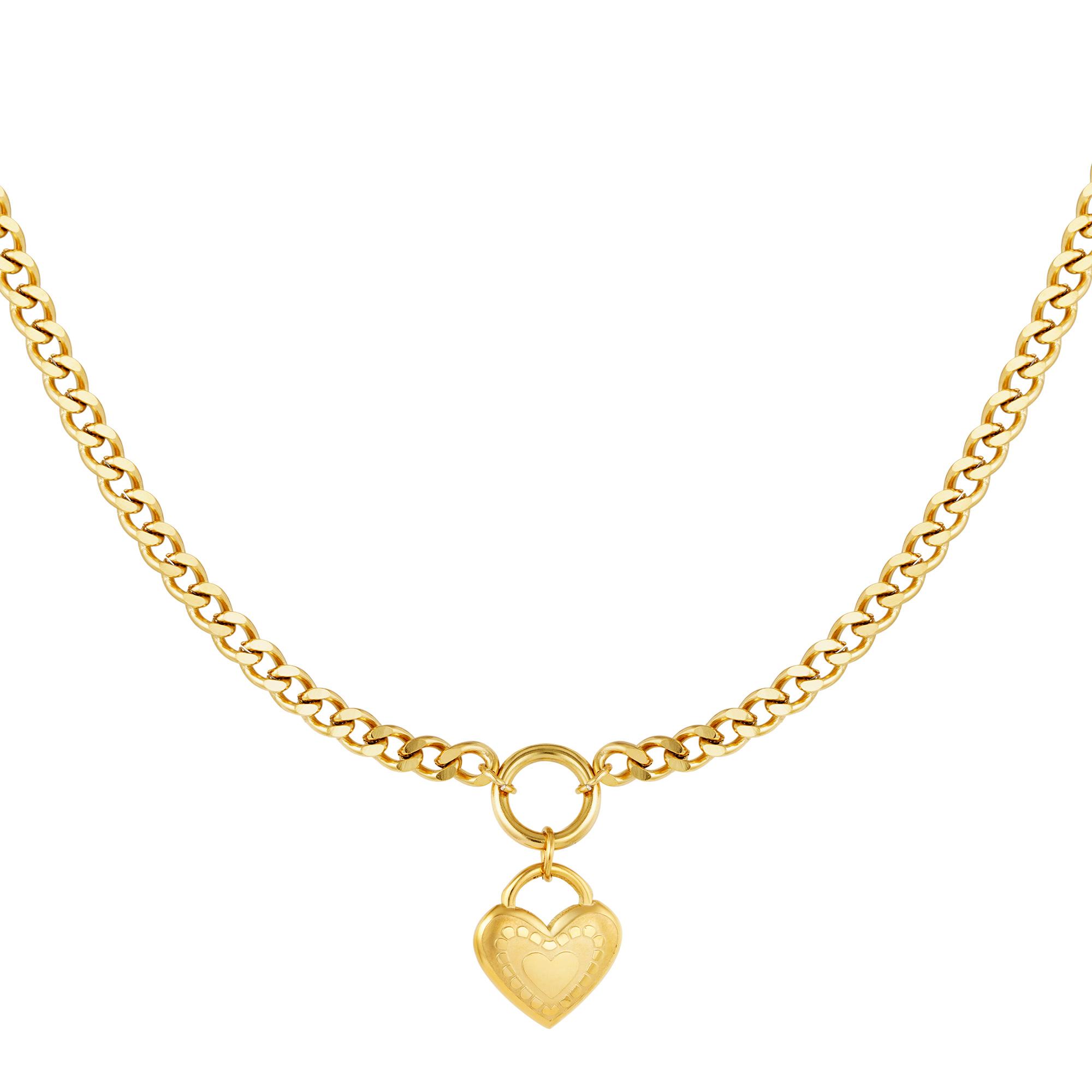 Collier Un Coeur Plein d'Amour Or