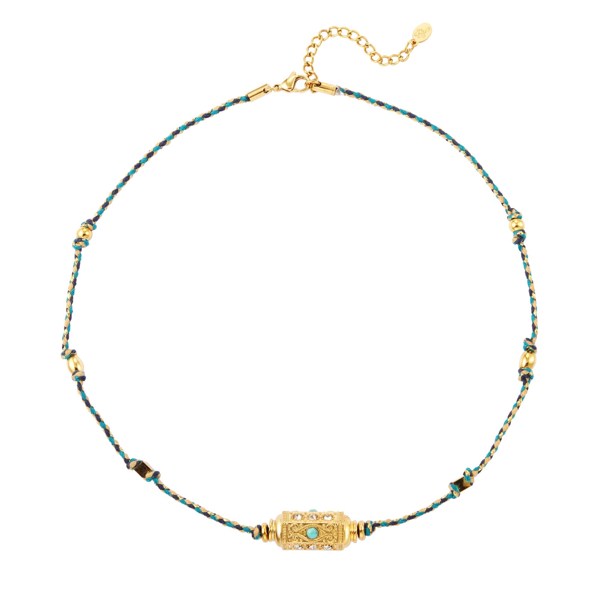 Collier perle balle Turqouise
