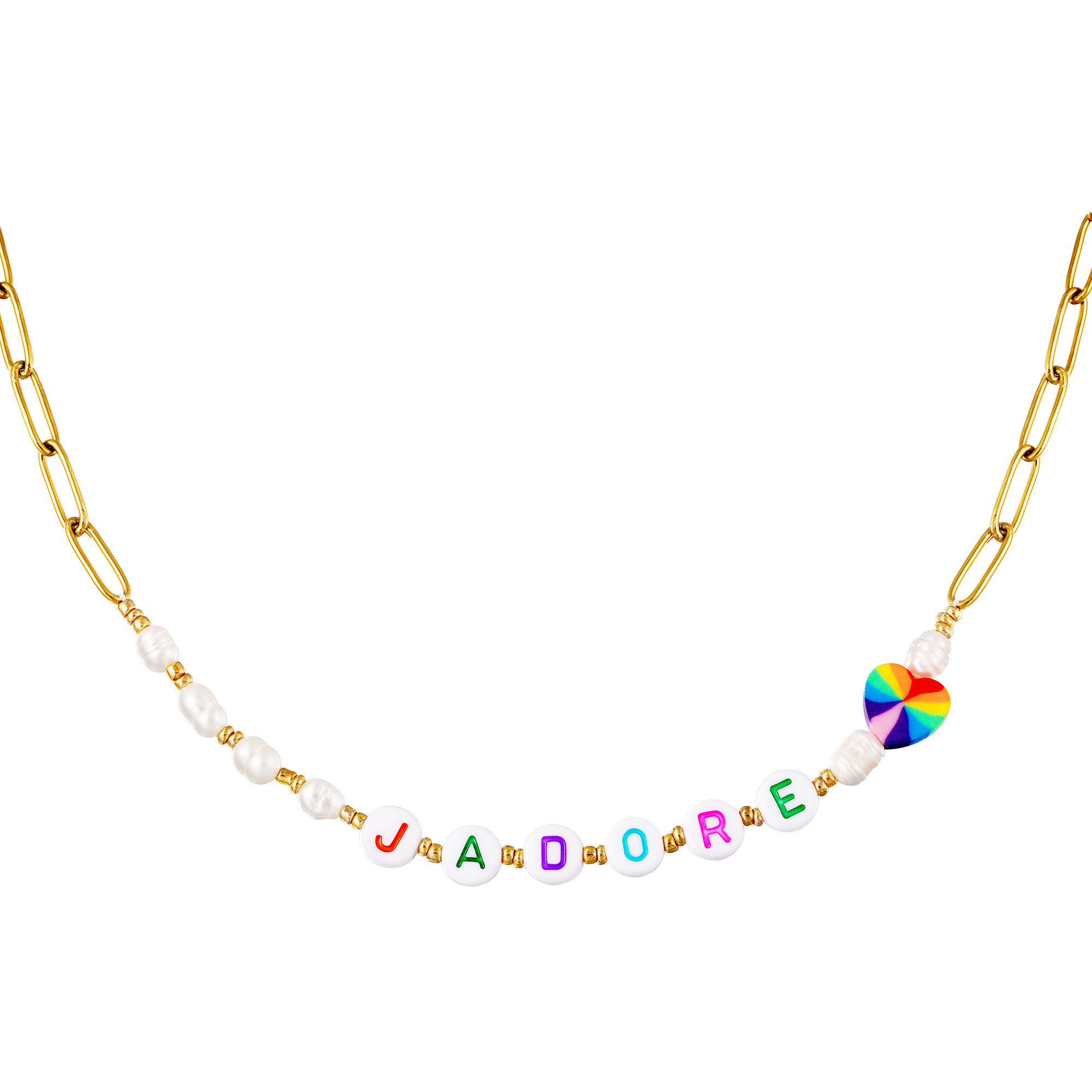 Stainless steel necklace J'adore