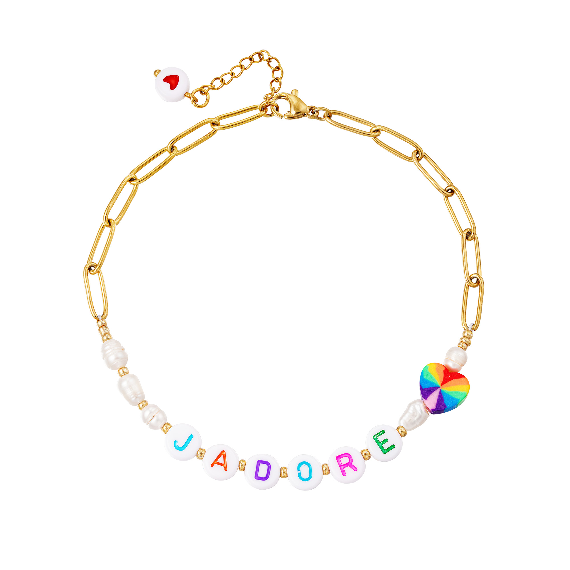 Stainless steel anklet J'adore