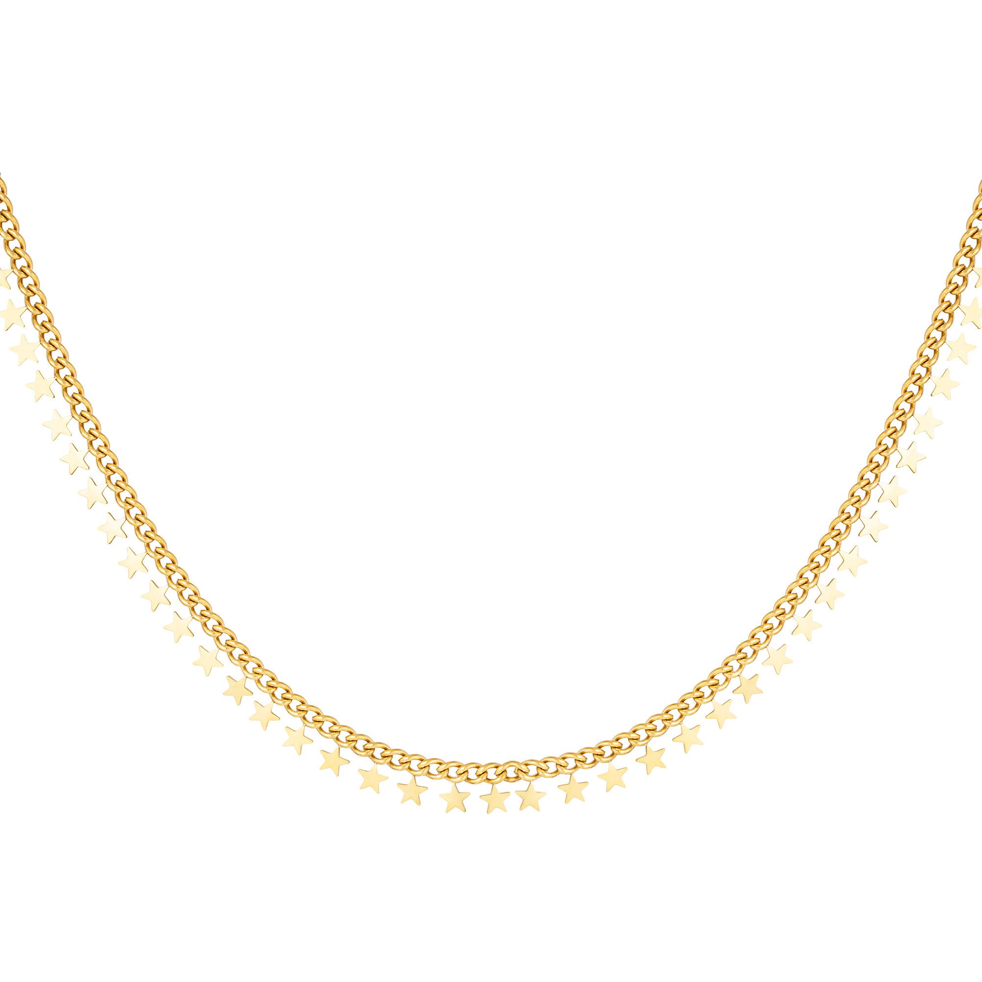 RVS ketting sterren necklace