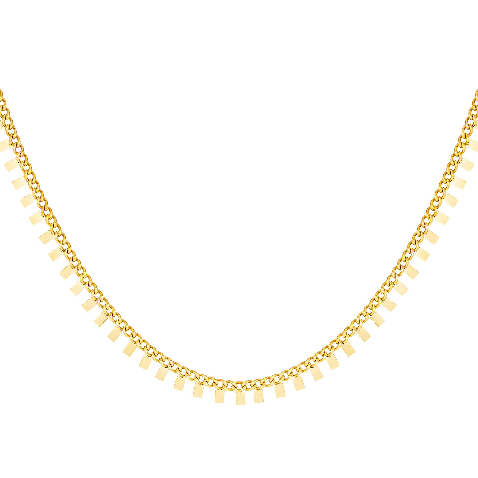 Halskette quadrate aus edelstahl