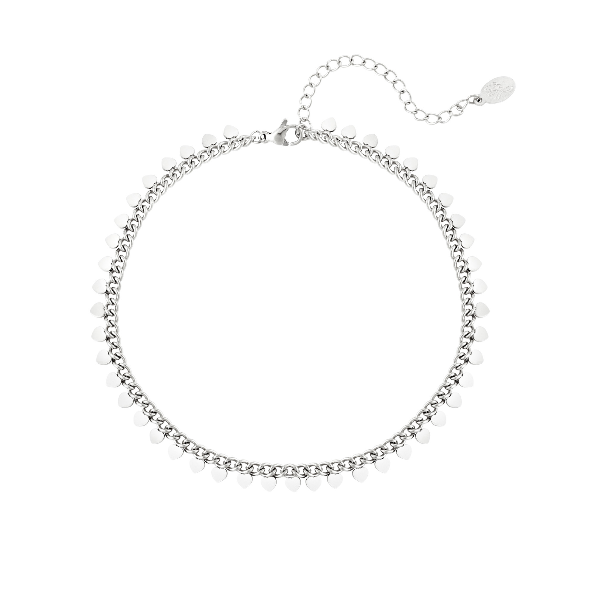 Stainless steel anklet hearts