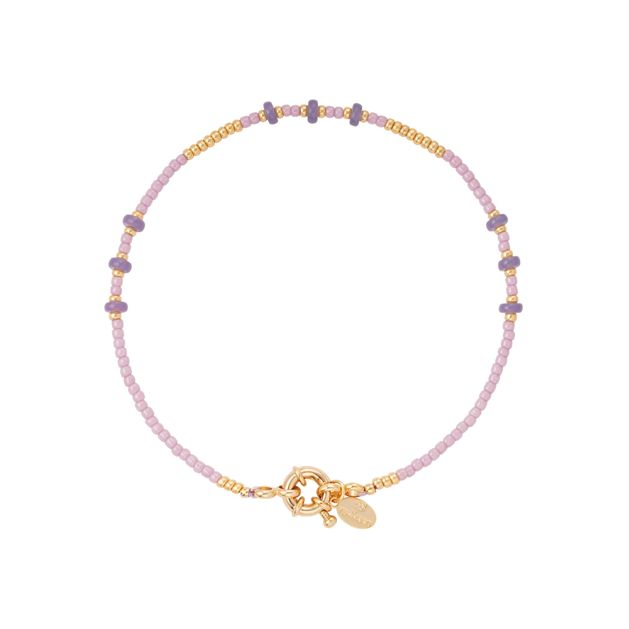 Bracelet de cheville perles colorées