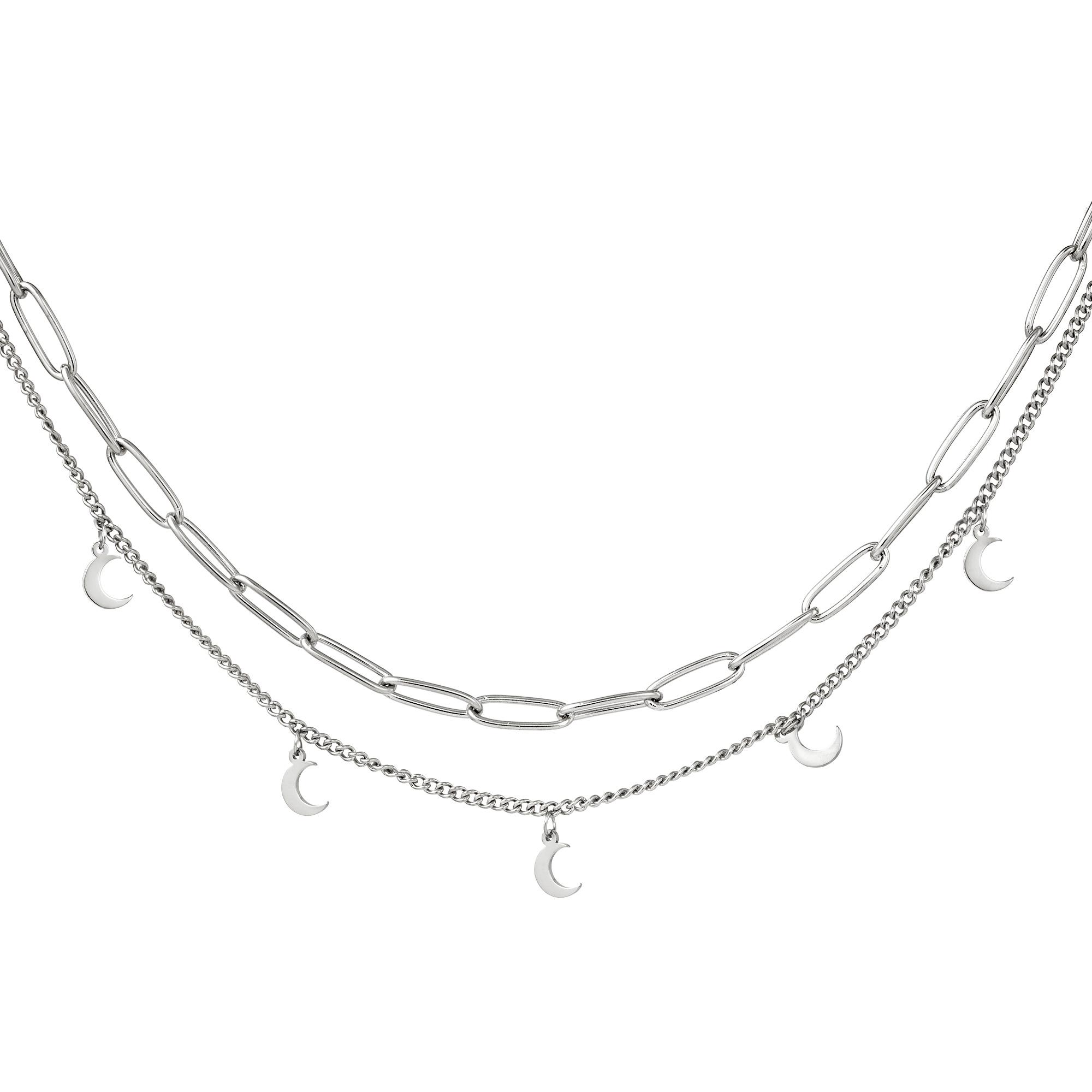 Collar Cadena Luna Oro