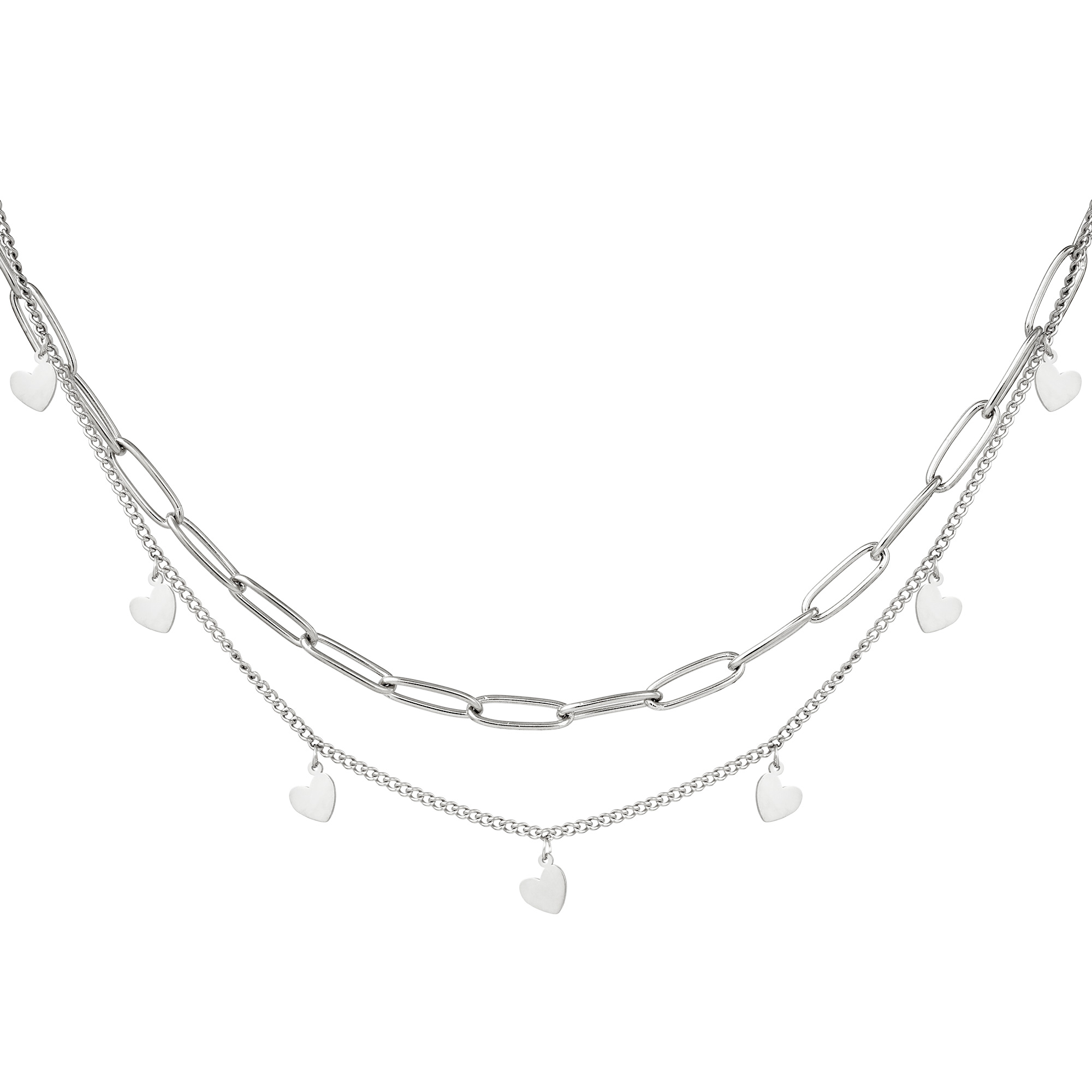 Ketting Chain My Heart Zilver