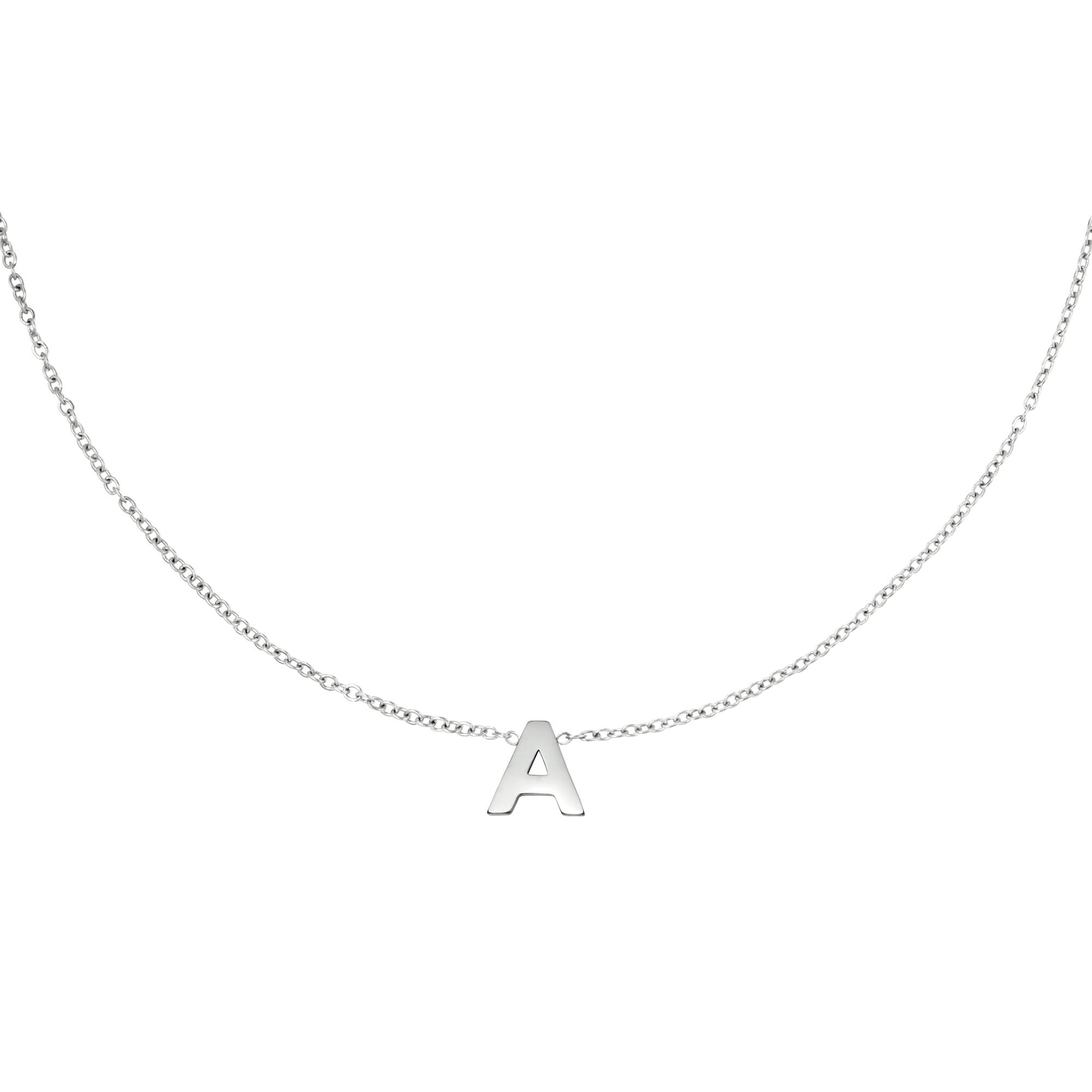 Collier en acier inoxydable initiale H