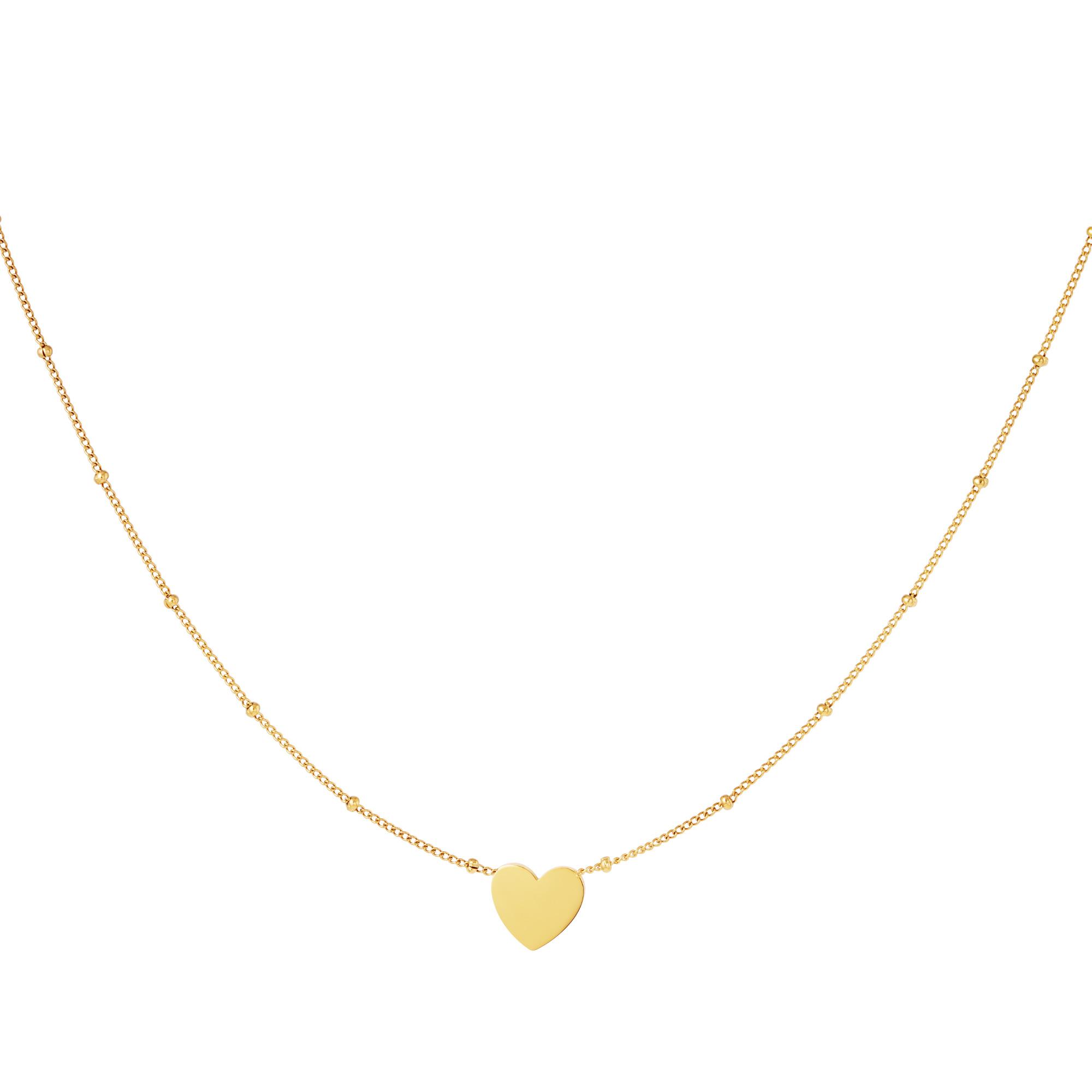 Collier coeur minimaliste