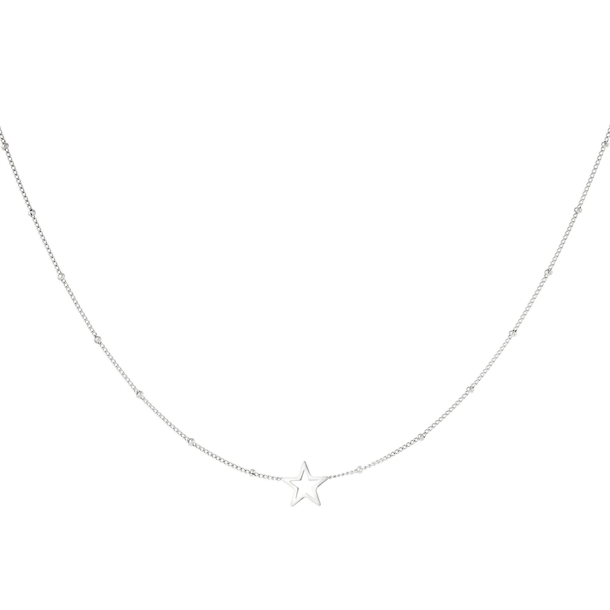 Minimalistische halskette offener stern