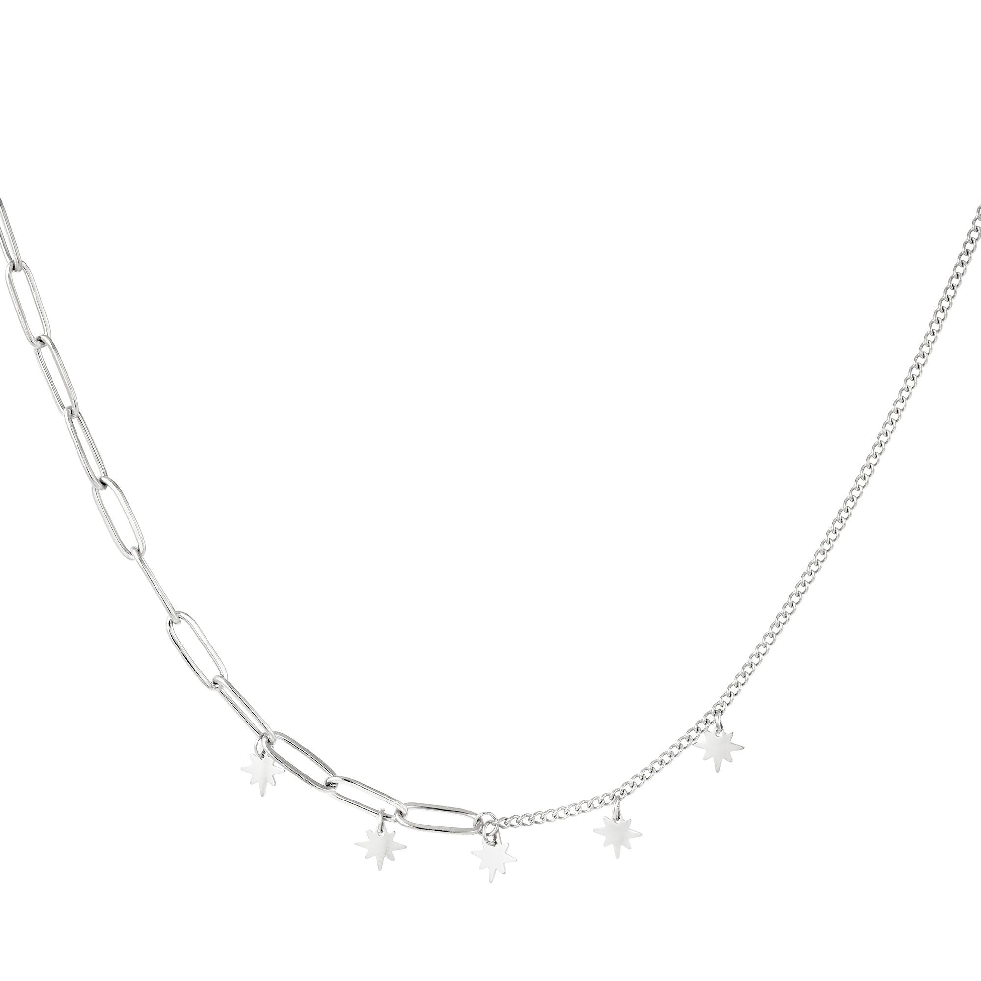 Estrellas de collar de acero inoxidable