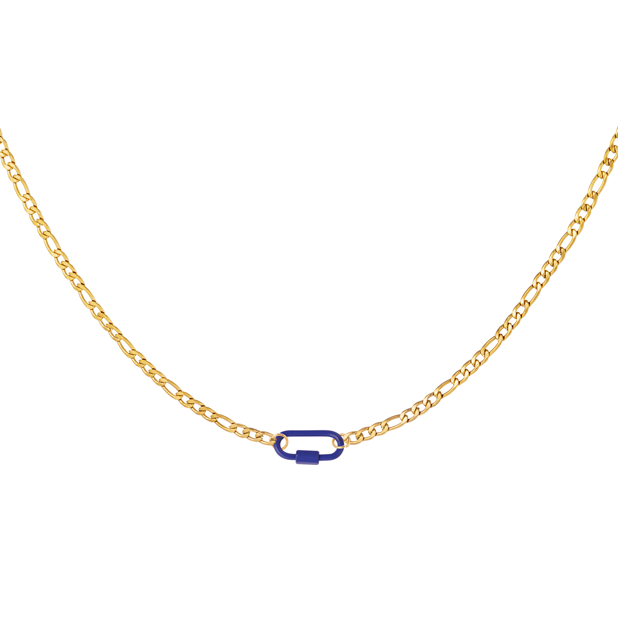 Halskette farbiges schloss
