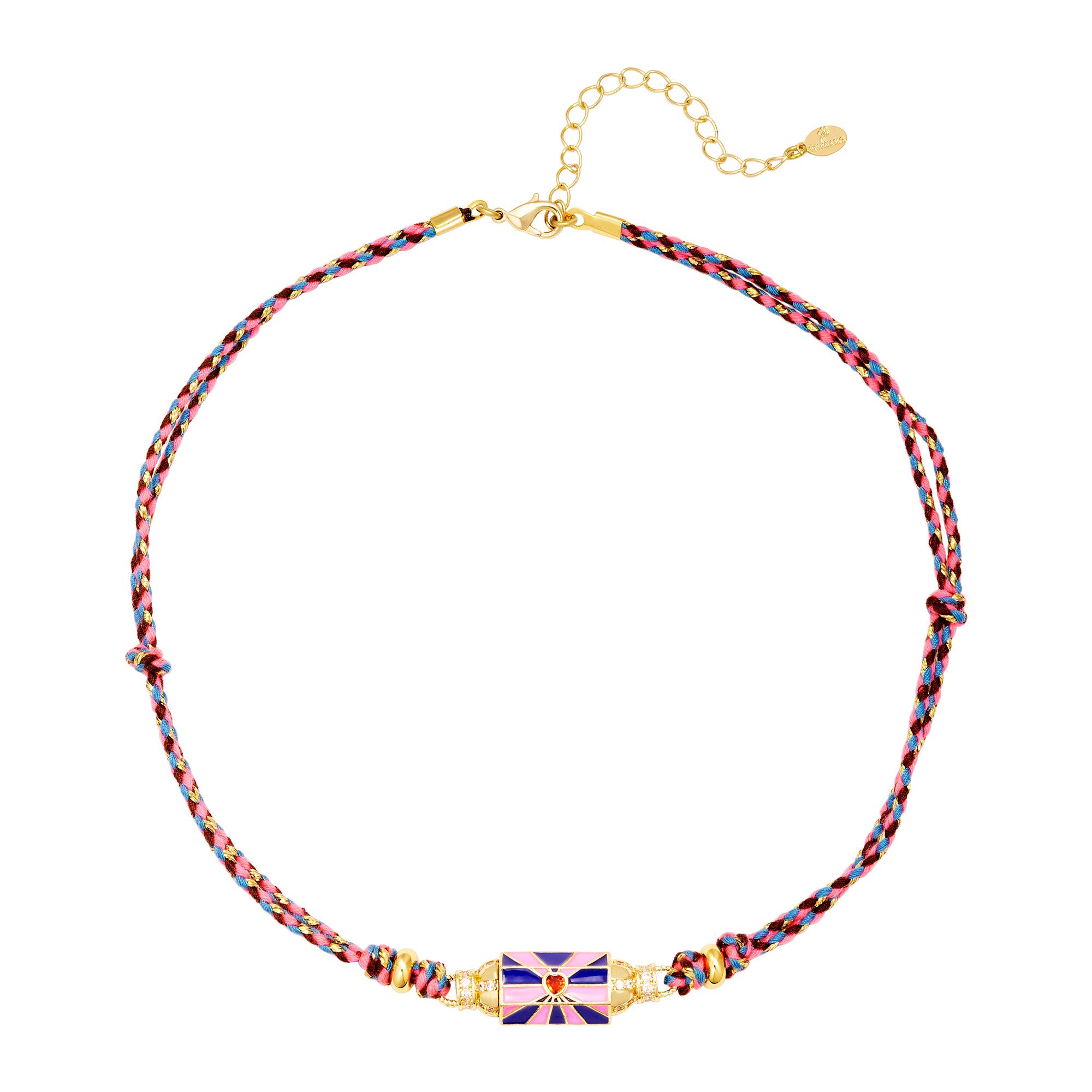 Collier perle colorée
