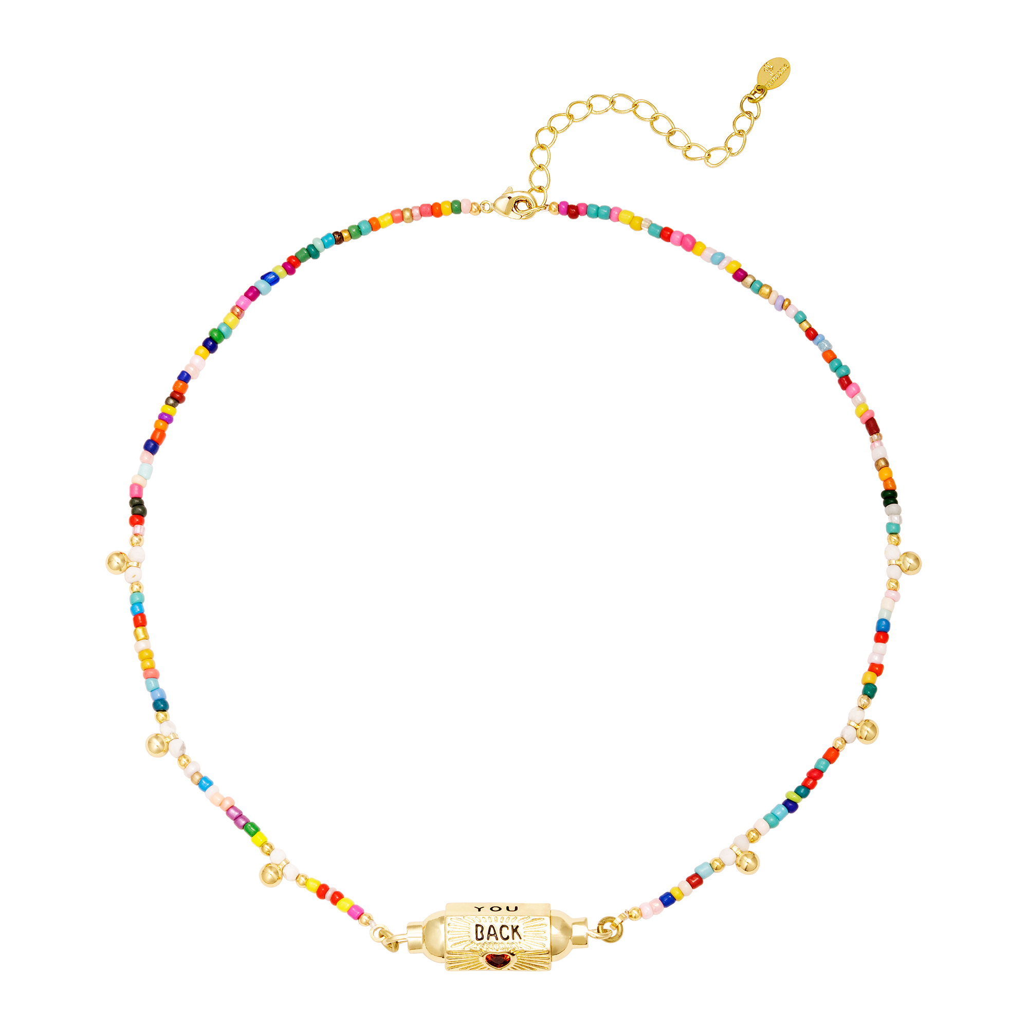 Beaded necklace with bead
