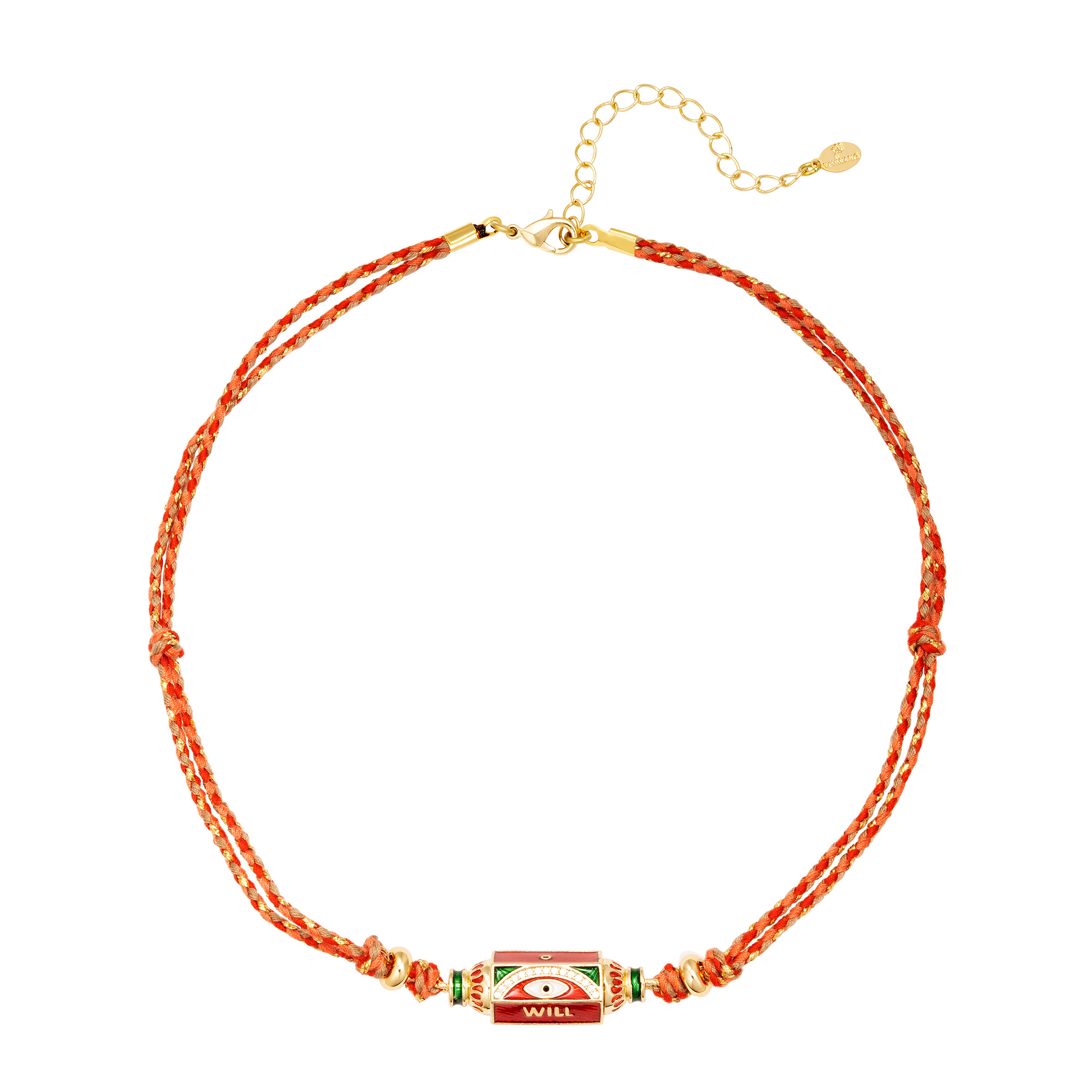 Red necklace with bead