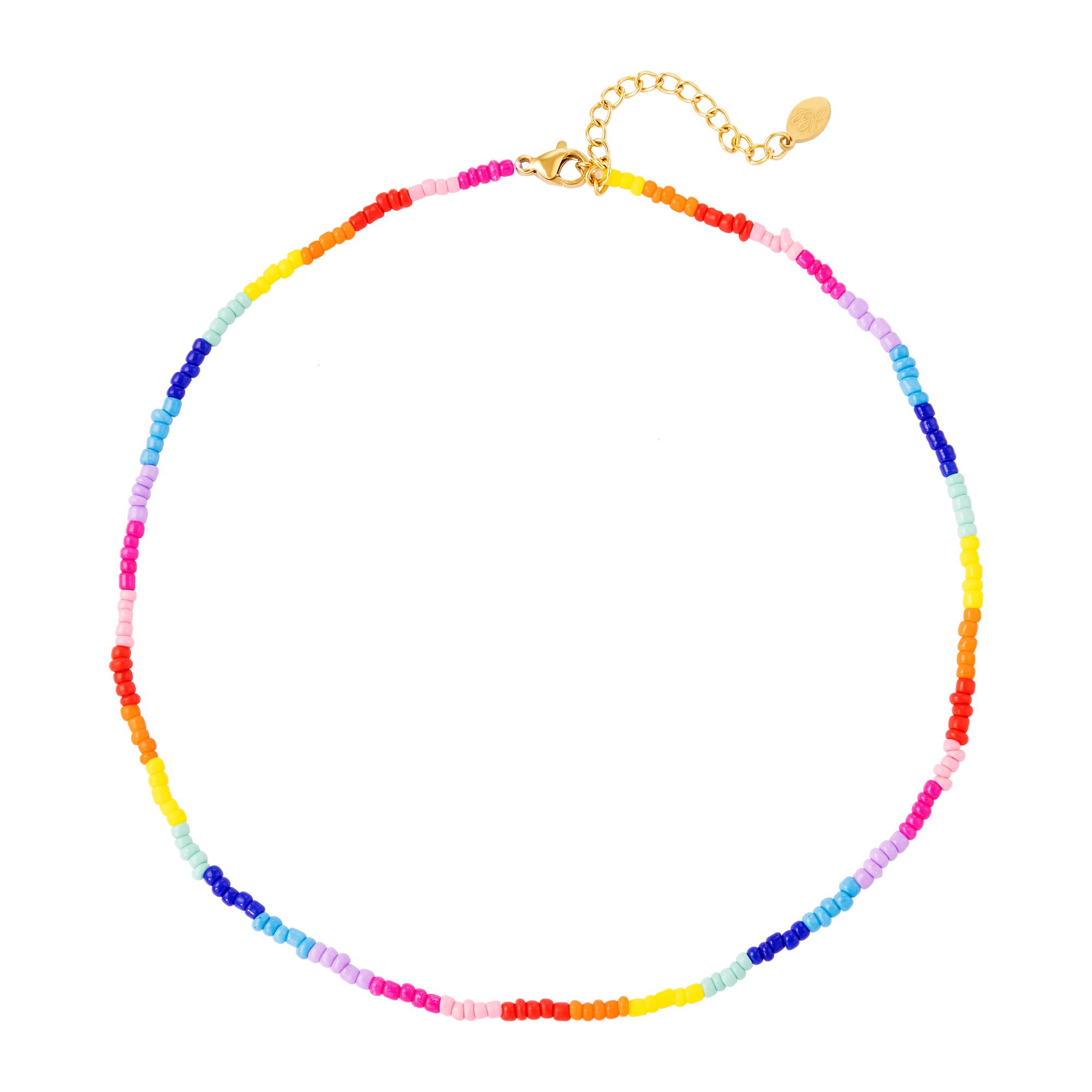 Collar perlas arcoiris