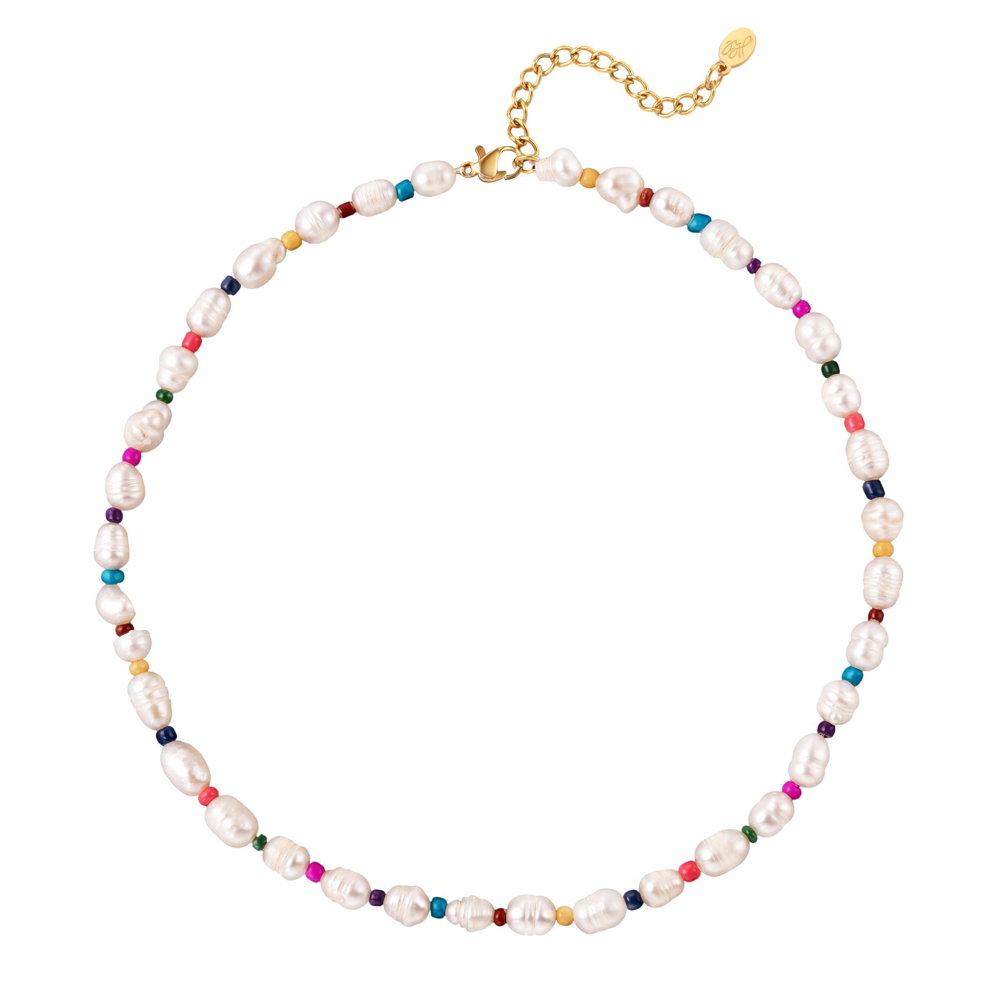 Collier perles et perles