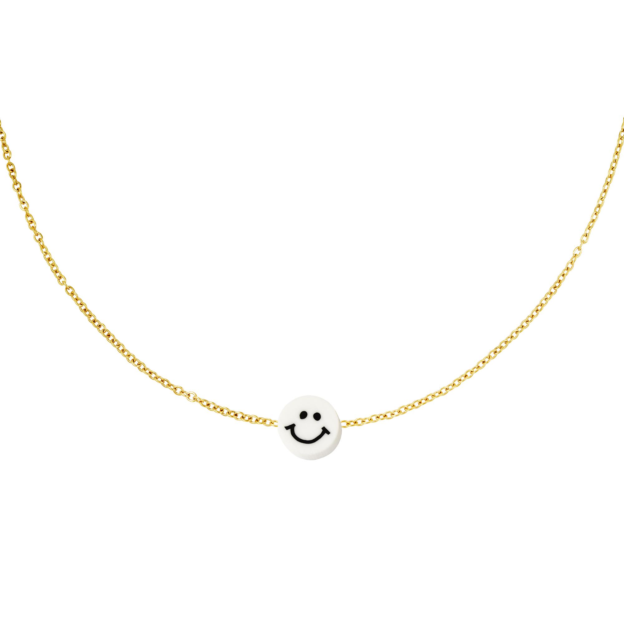 Collier en acier inoxydable smiley