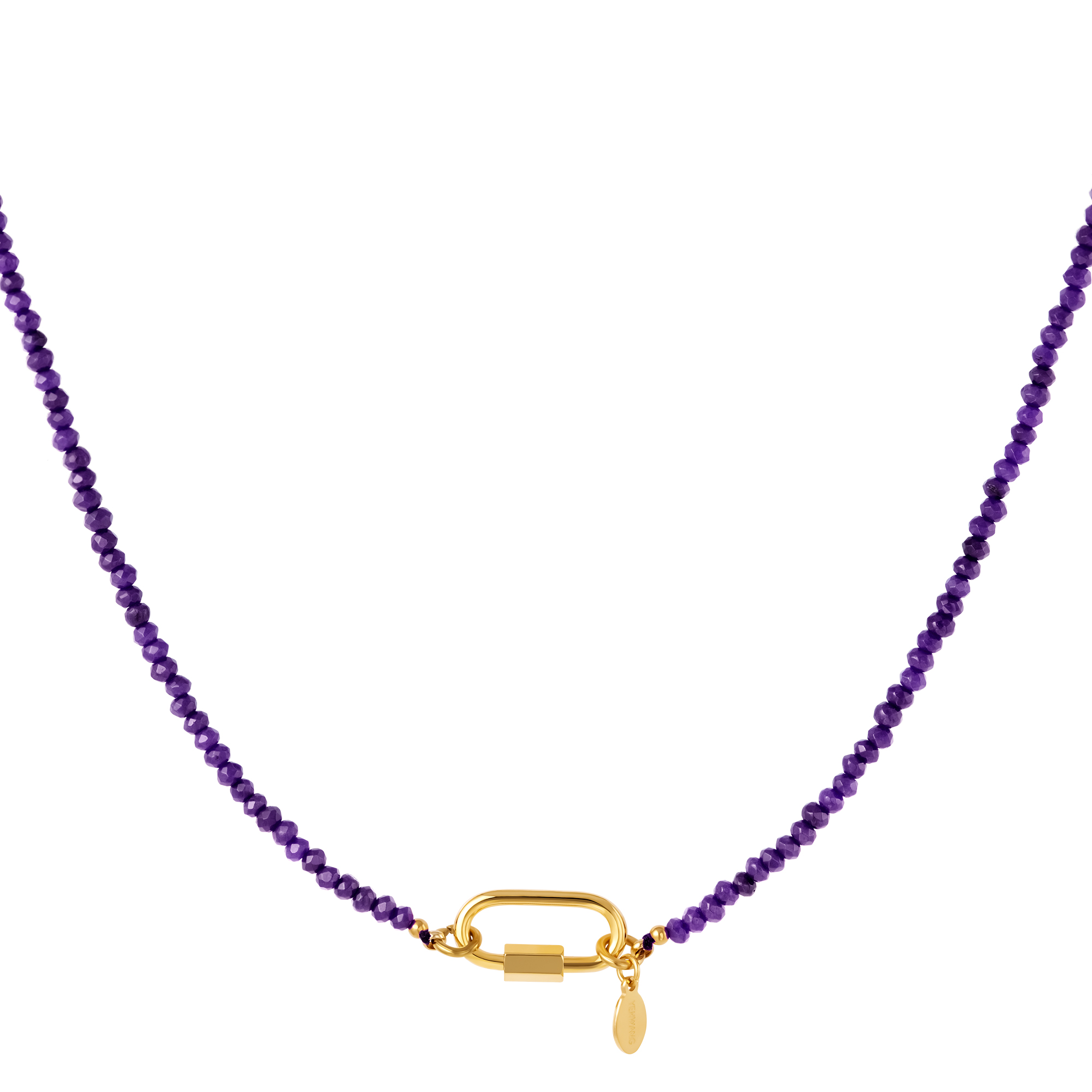 Necklace with carabiner lock